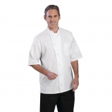 Chef Works Valais Unisex Chefs Jacket White with Grey 2XL