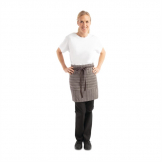 Chef Works Urban Brooklyn Half Bistro Apron Dark Grey
