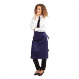 Whites Regular Bistro Apron Navy Blue