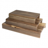 Olympia FSC 3-Pack 50mm(H) Acacia Wood Risers (Various Lengths)