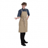 Chef Works Urban Austin Denim Bib Apron Natural