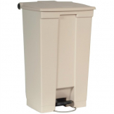 Rubbermaid Step On Pedal Bin Beige 87Ltr