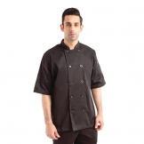 Chef Works Chambery Unisex Chefs Jacket Black XS