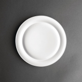 Kristallon Heritage Raised Rim Plates White 252mm (Pack of 4)