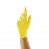 Pearl Powder-Free Nitrile Gloves Yellow Large (Pack of 100)