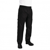 Chef Works Unisex Slim Fit Cargo Chefs Trousers Black XL