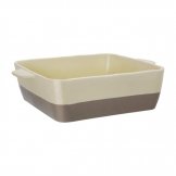Olympia Cream And Taupe Ceramic Roasting Dish 4.2Ltr