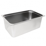 Vogue Heavy Duty Stainless Steel 1/1 Gastronorm Pan 200mm