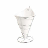 French Fry Holder with Porcelain Insert