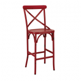 Cafe Bar Stool - Red