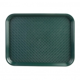 Kristallon Medium Polypropylene Fast Food Tray Green 415mm