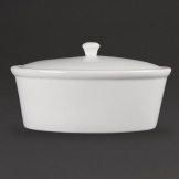 Olympia Whiteware Oval Casserole Dish 2.2Ltr