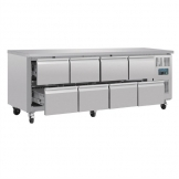 Polar U-Series Eight Drawer Gastronorm Counter Fridge