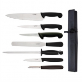 Hygiplas 7 Piece Knife Starter Set With 26.5cm Chef Knife and Roll Bag