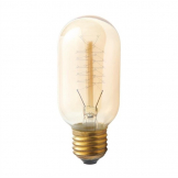 Crystallite T45 Spiral Filament Antique Lamp Edison Screw 40W