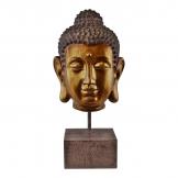 Ornamental Buddha Head on Stand, 35cm.