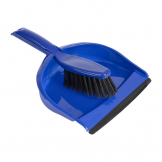 Jantex Soft Dustpan and Brush Set Blue