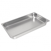 Vogue Heavy Duty Stainless Steel 1/1 Gastronorm Pan 150mm
