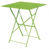 Bolero Lime Green Square Pavement Style Steel Table