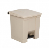 Rubbermaid Step On Pedal Bin Beige 30.5Ltr