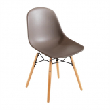 Bolero PP Moulded Side Chair Coffee with Spindle Legs (Pack 2)