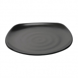Kristallon Fusion Melamine Rounded Square Plates Black 250mm