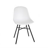 Bolero Arlo Side Chairs with Metal Frame White (Pack of 2)