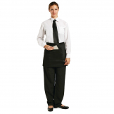 Chef Works Short Bistro Apron Black