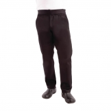 Chef Works Men's Lightweight Slim Trouser Black - Size XL