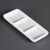 Olympia Whiteware 3 Section Dishes (Pack of 12)