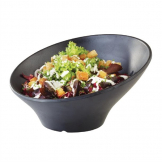 APS Zen Melamine Round Sloped Bowl Black 800ml