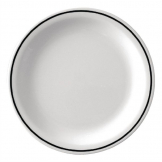 Kristallon Black Band Melamine Dinner Plates 230mm (Pack of 12)