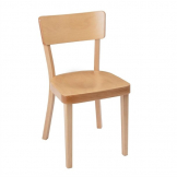 Fameg Plain Side Chairs Natural Beech (Pack of 2)