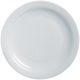 Arcoroc Opal Hoteliere Narrow Rim Plates 236mm (Pack of 6)
