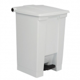 Rubbermaid Step On Pedal Bin White 45.5Ltr