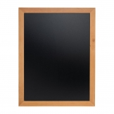 Securit Wall Mounted Blackboard 900x700mm Teak