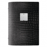 DAG Fashion Leather Menu Cover A5 Black Crocodile