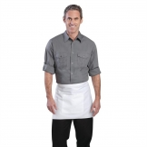 Chef Works Mens Pilot Shirt Grey M