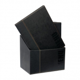Securit Contemporary Menu Covers and Storage Box A4 Black