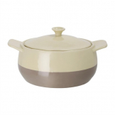 Olympia Cream And Taupe Round Casserole Dish 1.8Ltr
