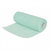 Jantex Non Woven Cloths Green (Roll of 100) (Pack of 100)