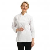 Chef Works Marbella Womens Executive Chefs Jacket White 2XL