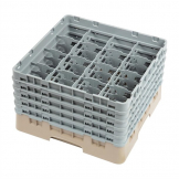 Cambro Camrack Beige 16 Compartments Max Glass Height 257mm