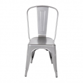 Bolero Bistro Steel Side Chair Gun Metal (Pack of  4)