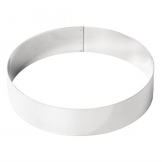 De Buyer 200(W)mm x 45(H)mm Stainless Steel Mousse Ring