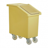Fletcher Mobile Ingredient Bin 65Ltr Yellow