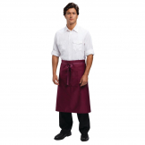 Chef Works Regular Bistro Apron Burgundy