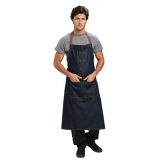 Chef Works Urban Memphis Wide Bib Apron Indigo
