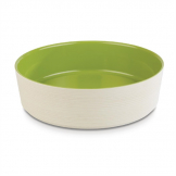 APS+ Melamine Round Bowl Maple and Green 4 Ltr
