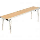 Gopak Contour Stacking Bench Beech Effect 4ft